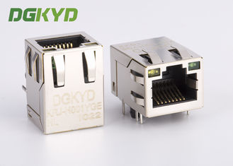 KRJ-H001YGENL พอร์ตเดียว RJ45 Magnetics jack, Side Entry 100Mb rj45 8p8c connectors