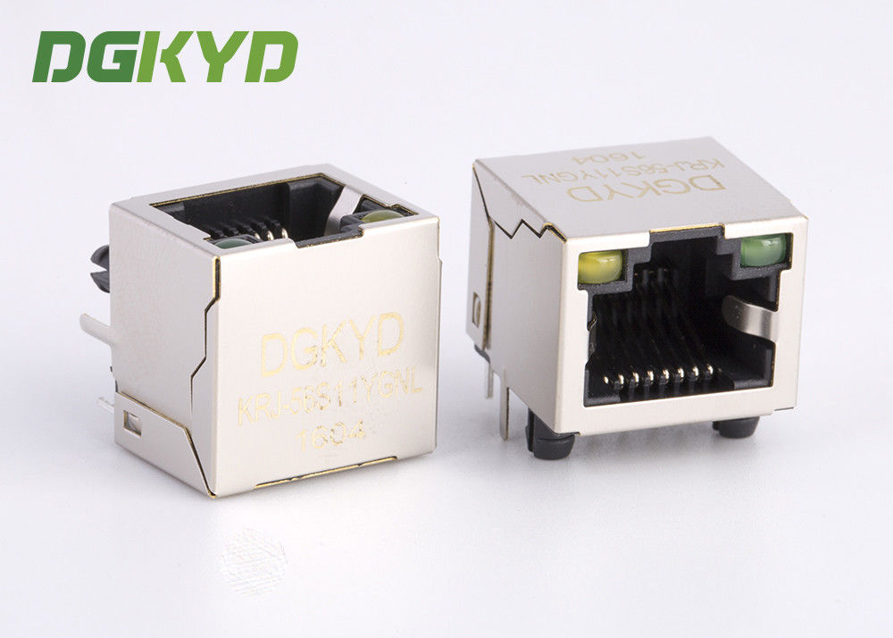 Customized Single Port Metal Shield Rj45 Keystone Jack Without Transformer